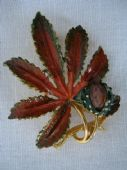 Horse Chestnut Brooch signed 'Exquisite' - 1960's - Small Size(sold)